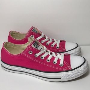 Converse All Star Pink Low Top Sneakers  Size 8